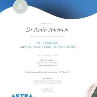 13 Dr Amin Amenien Astra  Dental implant system 2010